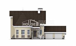 275-001-L Two Story House Plans and mansard with garage, classic House Blueprints