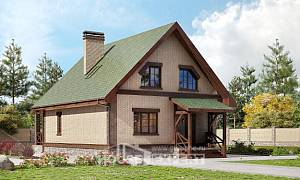 160-011-R Two Story House Plans and mansard, compact Tiny House Plans