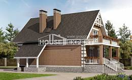 200-009-L Three Story House Plans and mansard with garage in front, classic House Online