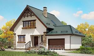 160-005-R Two Story House Plans and garage, small Home Plans