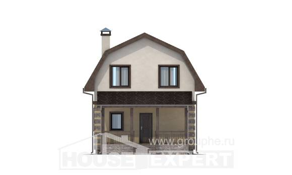 070-004-R Two Story House Plans with mansard roof, economical Plans To Build