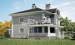 245-004-L Two Story House Plans and garage, spacious Woodhouses Plans