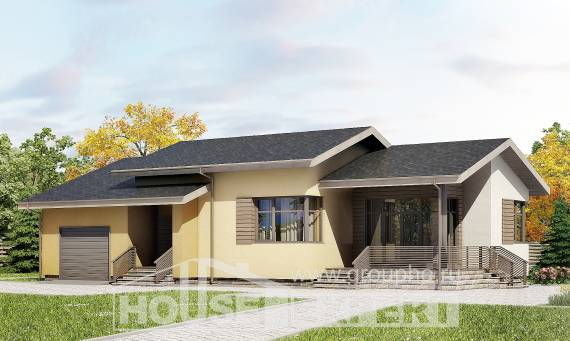 135-002-L One Story House Plans with garage in front, cozy Online Floor