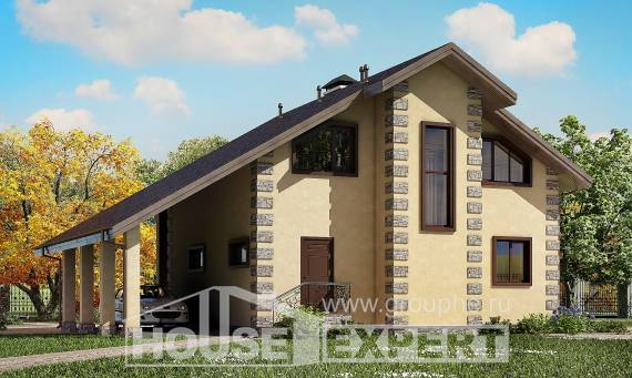 150-003-R Two Story House Plans with garage, the budget Home House