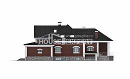 600-001-R Three Story House Plans with mansard roof with garage under, luxury Home Plans