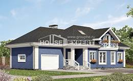 180-010-L Two Story House Plans with mansard with garage in front, cozy Woodhouses Plans
