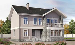 170-008-R Two Story House Plans, small Building Plan