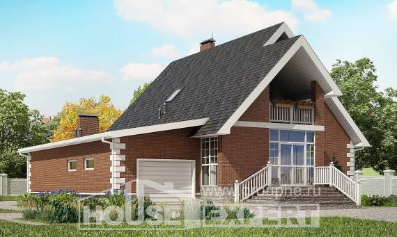 220-002-L Two Story House Plans with mansard and garage, average Ranch
