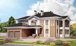 520-002-L Three Story House Plans with garage, cozy House Building