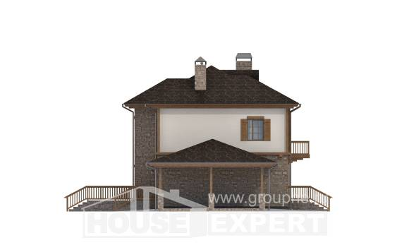 155-006-L Two Story House Plans with garage in front, best house Custom Home