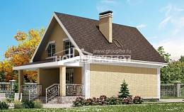 130-004-R Two Story House Plans with mansard, beautiful Custom Home Plans Online