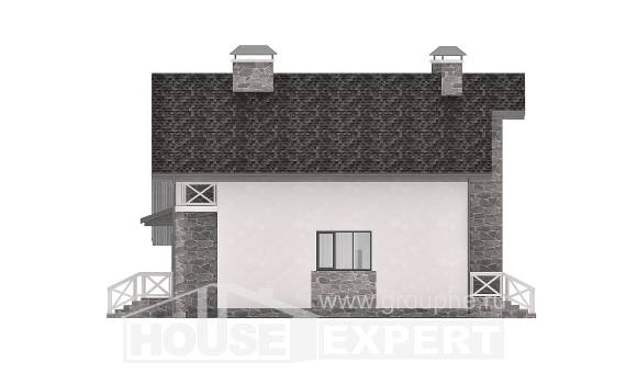 180-017-L Two Story House Plans and mansard with garage, luxury Plan Online,