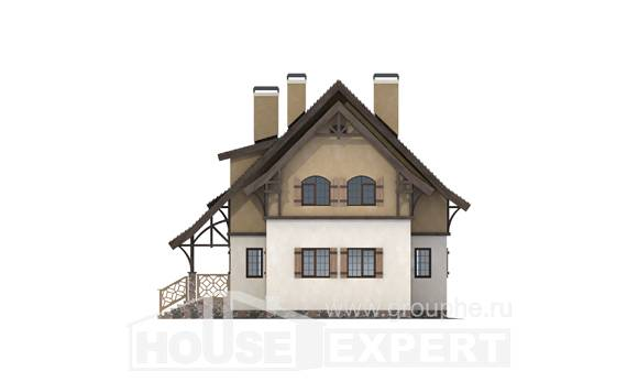180-014-L Two Story House Plans with mansard roof, the budget House Plan