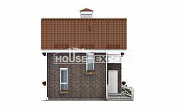 045-001-L Two Story House Plans and mansard, inexpensive Design Blueprints