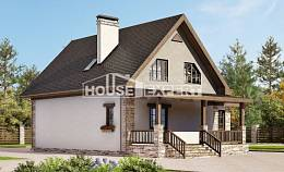 140-002-L Two Story House Plans with mansard, economical Architectural Plans