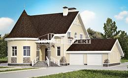 275-001-L Two Story House Plans with mansard roof with garage in front, best house Design Blueprints