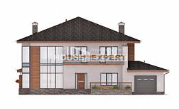 305-001-R Two Story House Plans with garage in back, luxury Architectural Plans