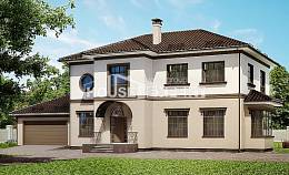 290-004-L Two Story House Plans and garage, a huge Villa Plan