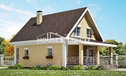 130-004-R Two Story House Plans and mansard, beautiful Home Blueprints