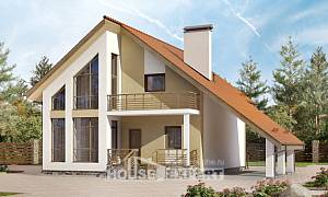 170-009-R Two Story House Plans with mansard with garage, beautiful Planning And Design