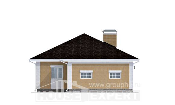 130-002-L One Story House Plans with garage, modern Online Floor