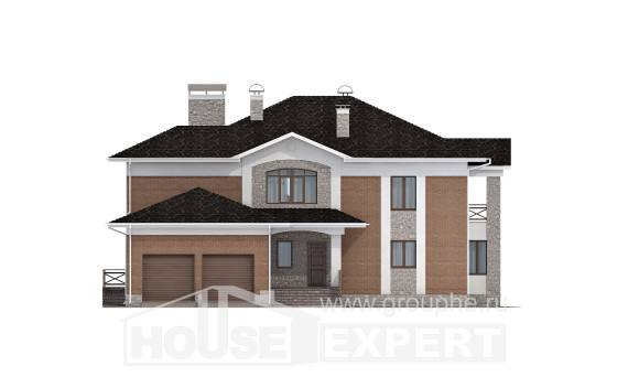 520-002-L Three Story House Plans with garage under, spacious Home Blueprints