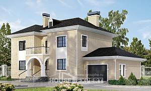 180-006-R Two Story House Plans with garage in front, classic Dream Plan