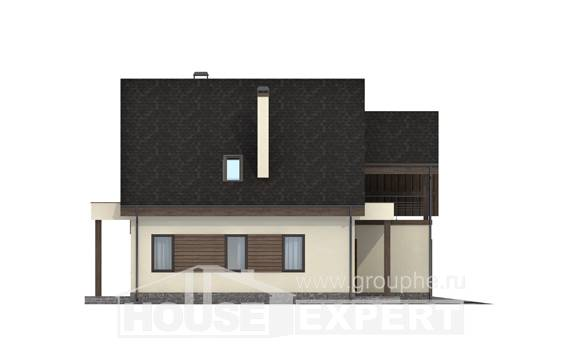 120-005-L Two Story House Plans with mansard and garage, the budget Online Floor