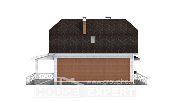 160-006-R Two Story House Plans and mansard with garage, best house House Blueprints