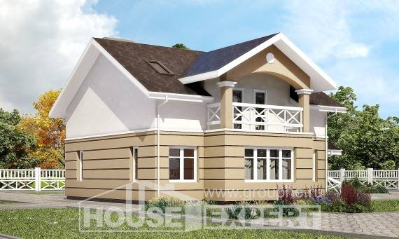 155-009-R Two Story House Plans with mansard roof, available Ranch