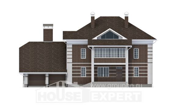 505-002-L Three Story House Plans with garage under, beautiful Timber Frame Houses Plans