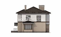 290-004-L Two Story House Plans with garage under, cozy Home Blueprints