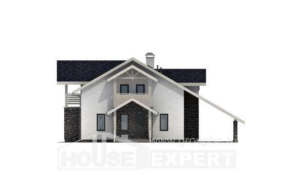 155-010-R Two Story House Plans with mansard roof with garage in front, the budget Online Floor