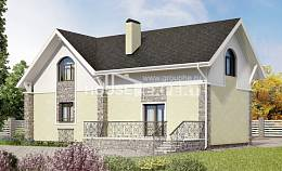 150-012-R Two Story House Plans with mansard roof, the budget Construction Plans
