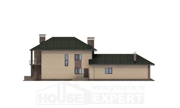 305-003-R Two Story House Plans, classic Tiny House Plans