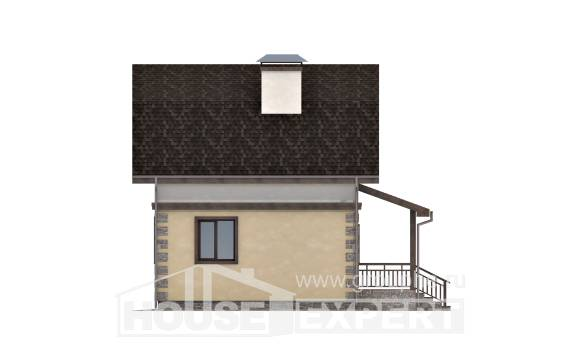 070-004-R Two Story House Plans with mansard roof, little Woodhouses Plans