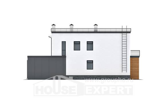 260-002-R Two Story House Plans with garage in front, big House Building