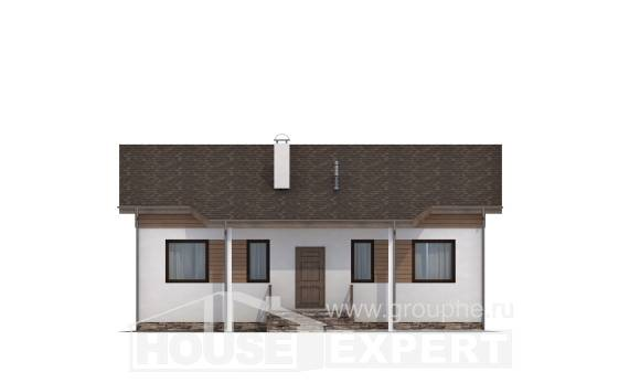 080-004-L One Story House Plans, classic Architects House