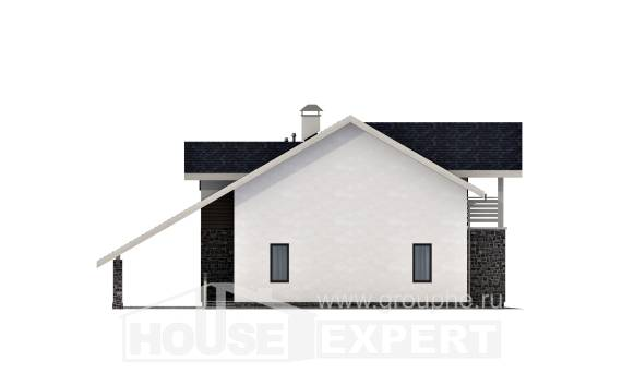 155-010-R Two Story House Plans with mansard with garage under, small Online Floor