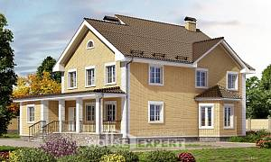 320-003-L Two Story House Plans, big Timber Frame Houses Plans