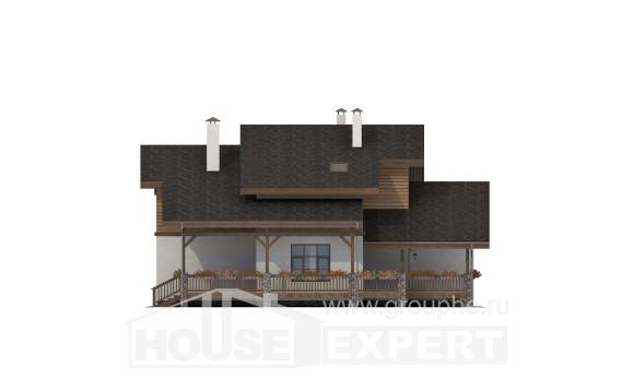 210-006-R Two Story House Plans with mansard roof, spacious House Plans