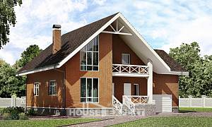 215-001-R Two Story House Plans and mansard with garage, beautiful Floor Plan