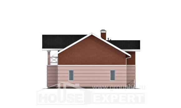155-009-L Two Story House Plans with mansard, the budget Custom Home