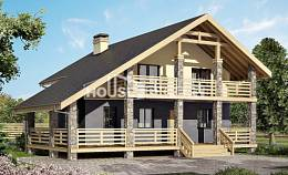 160-010-R Two Story House Plans and mansard, the budget Home Blueprints